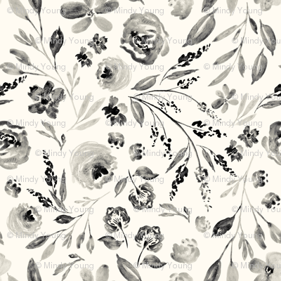 Indy Bloom Design farm house florals IVORY