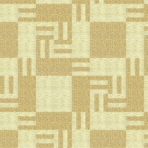Whirling Counterchange Blocks in Sand and Beige