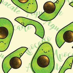AVOCADO AGUACATE SEAMLESS PATTERN