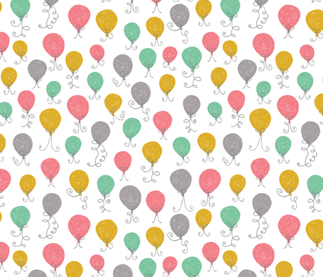 Balloon Mix Pink fabric by studio_amelie on Spoonflower - custom fabric