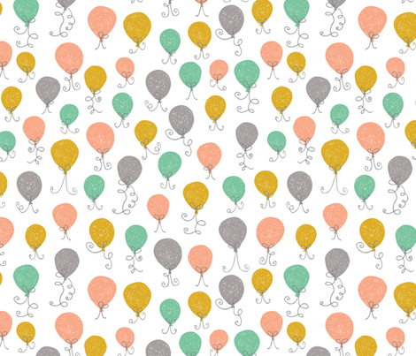 Balloon Mix fabric by studio_amelie on Spoonflower - custom fabric