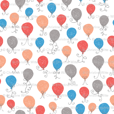 Balloons Blue Red