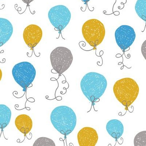 Balloons Ochre Blue