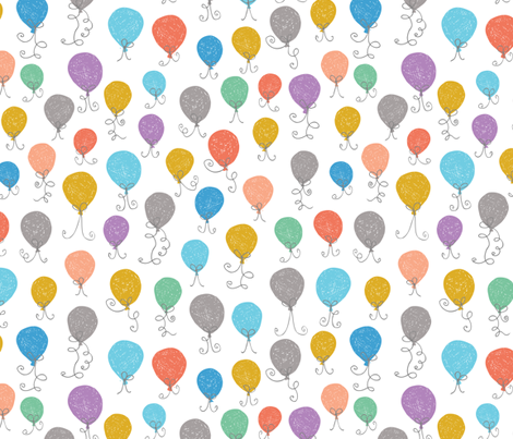 Balloons Multi fabric by christinewitte on Spoonflower - custom fabric
