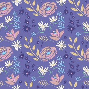 Spring Floral, Virginia Purple Gold and Rose