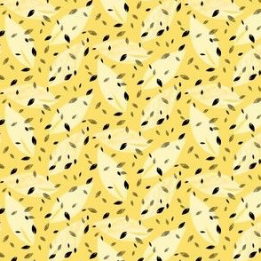 Yellow and Black Leaf Prints for Summer