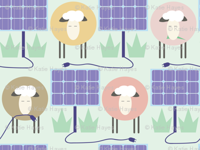 Off the grid, Solar Sheepscaping- Mini on Green