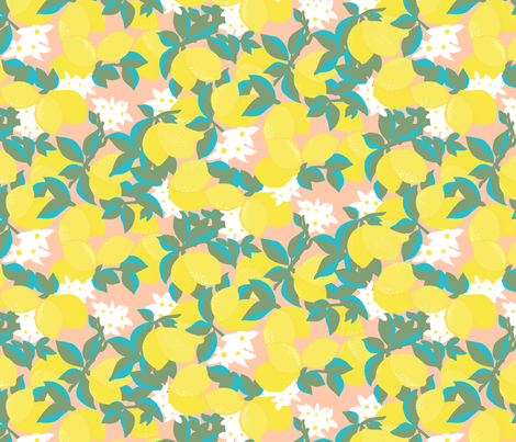 Pink Lemonade fabric by rose_and_stone on Spoonflower - custom fabric