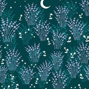 Moonlit Lavender in Teal