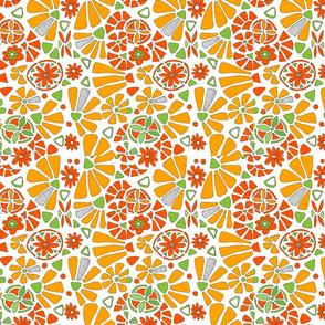 orange slice citrus and daisies