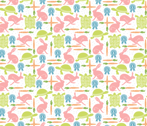 tortoise and hare fabric by sarahjean on Spoonflower - custom fabric
