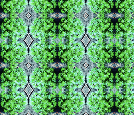Trippy Ganja Garden Amensia fabric by ganja_garden_momma on Spoonflower - custom fabric