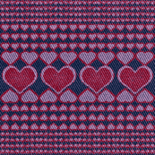 Faux Denim Dots and Hearts
