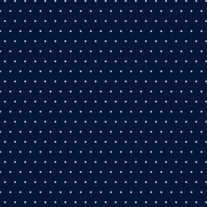 Polka Dots #6- Orchid on Navy