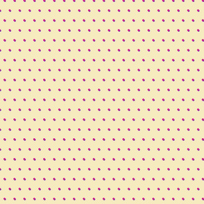Polka Dots Fuschia & Lavender on Yellow