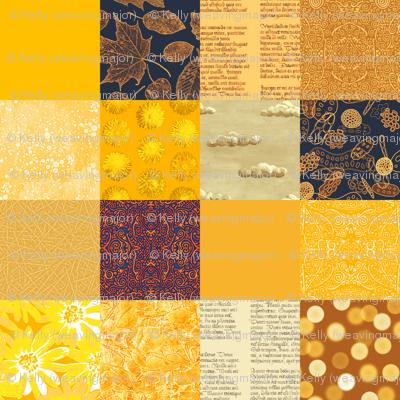 """gold sampler - 6"""" squares"""