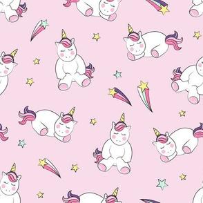 Pink Unicorn & Stars