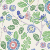Summer birds (green and blue)