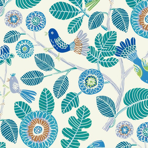 Summer birds (teal/blue/lilac)