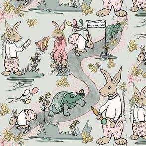 Tiny print Tortoise and Hare