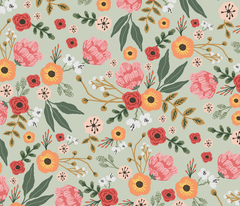 Pastel Garden fabric by ditut on Spoonflower - custom fabric