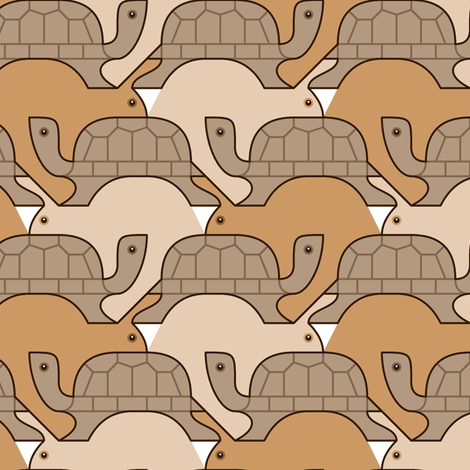 07279700 : tortoise v hare : natural fabric by sef on Spoonflower - custom fabric