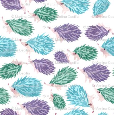 Sweet hedgehog watercolor for gender neutral nursery decor