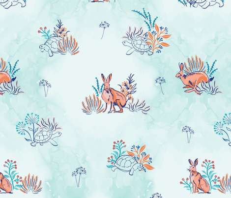 The Tortoise and the Hare fabric by flyinglizard on Spoonflower - custom fabric