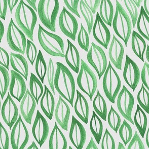 Hand drawn watercolor ikat - green and silver