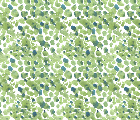 Watercolor spots painterly abstract - green and blue fabric by aliceelettrica on Spoonflower - custom fabric