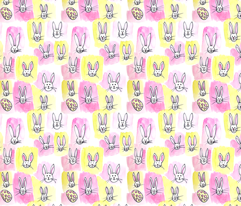 Easter Bunnies fabric by eileenmckenna on Spoonflower - custom fabric