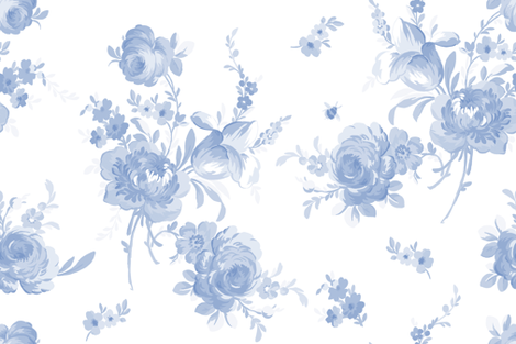 Olivia faded blueberry fabric by lilyoake on Spoonflower - custom fabric