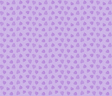 Happy Hearts Lavender fabric by bags29 on Spoonflower - custom fabric