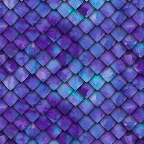 dragon scales - purple fabric by littlearrowdesign on Spoonflower - custom fabric