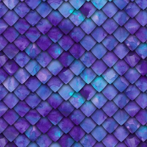 dragon scales - purple fabric by littlearrowdesign on Spoonflower - custom fabric