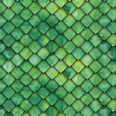 dragon scales - green fabric by littlearrowdesign on Spoonflower - custom fabric
