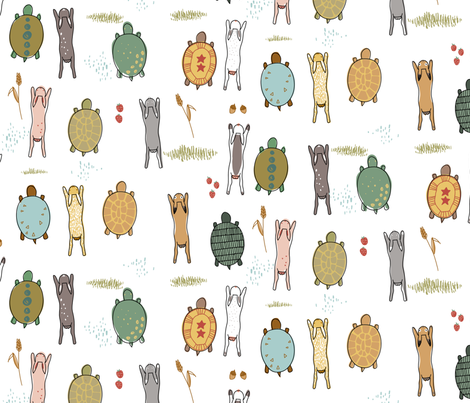 Tortoises And Hares fabric by mrshervi on Spoonflower - custom fabric