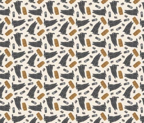 Tiny Belgian Sheepdogs - barn hunting fabric by rusticcorgi on Spoonflower - custom fabric