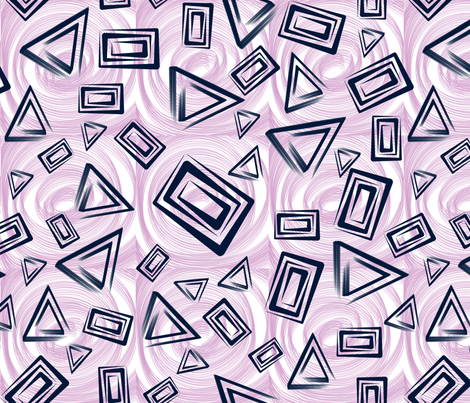 Mod Angles Navy N Orchid fabric by qideaz on Spoonflower - custom fabric