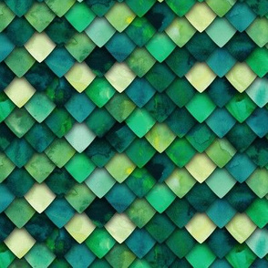 dragon scales - green multi