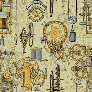 old steampunk gears