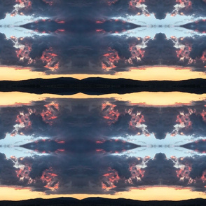 Trippy Merrill rolling clouds on a mountian