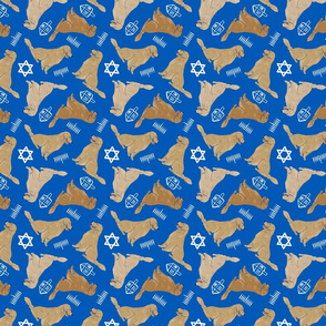Tiny Golden Retrievers - hanukkah