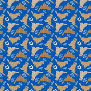 Tiny Golden Retrievers - hanukkah