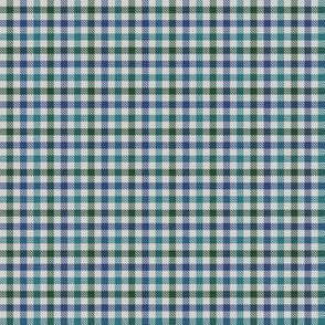 Custom Tricolor Gingham Green Blue Teal