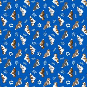 Tiny piebald Longhaired Dachshunds - Hanukkah