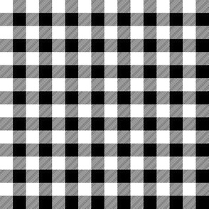 "1/2"" black and white plaid -C18BS"