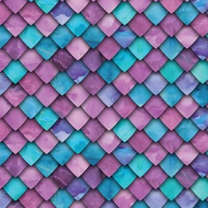 dragon scales - purple and blue