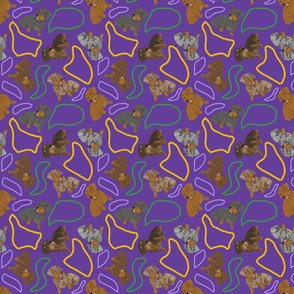 Tiny Wirehaired Dachshunds - Mardi Gras