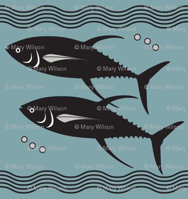 Art Deco Tuna Fishies